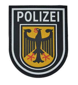 Rubberpatch Patch Polizei Bundespolizei SEK BFE Spezialeinheit colored farbig