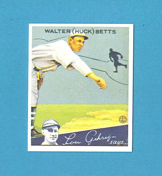 1934 Goudey Reprint #36 (Walter) Huck Betts Card - Boston Braves