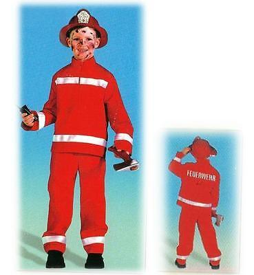 Feuerwehrmann 2-tlg. rot Kostüm Retter Kleiner Held Fasching - Feuerwehr Kostüm