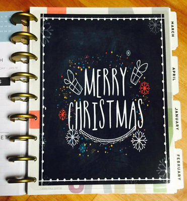Happy Holidays Chalkboard (Merry Christmas Chalkboard Holiday Winter Dashboard for use with HAPPY)