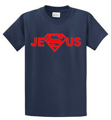 Jesus Mens Tee (Super Jesus Mens Graphic Christian Tees Regular to Big and Tall Sizes )