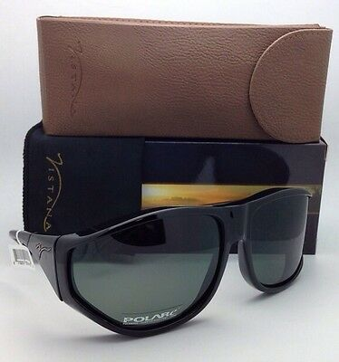 Polarized VISTANA Sunglasses W202G Fits Over Extra Large Eyeglasses Black w/Grey