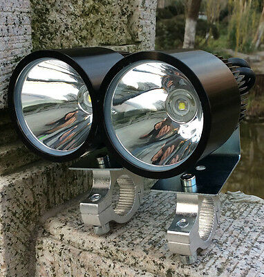 2X 12V 30W CREE LED Spot Light Motorcycle Moped Off Road Waterproof Headlight