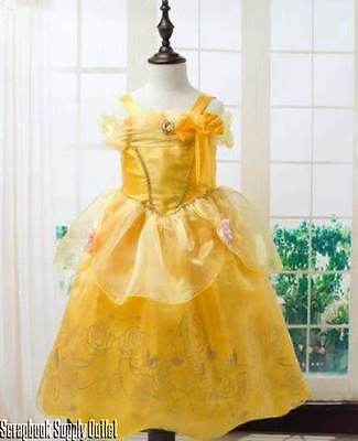 Beauty Belle Costume (Belle Princess Disney inspired Dress costume Child Toddler Beauty Beast FREE)