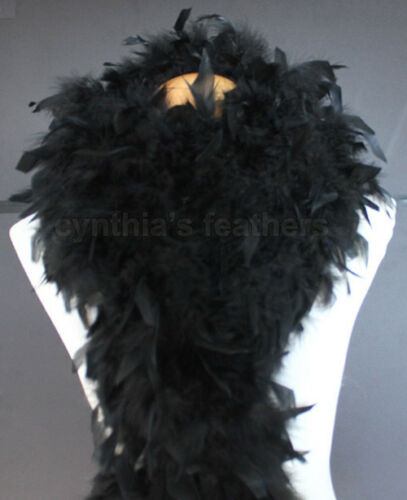Black 80 Gram Chandelle Feather Boa Dance Party Halloween Costume