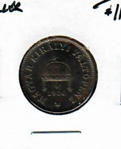 Hungary 10 filler 1920 Uncirculated