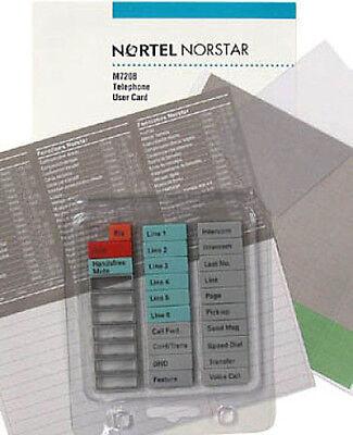 Nortel Networks Norstar Meridian Phone M7208 Button Set Plastic Label User Guide - Norstar Meridian M7208