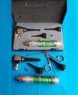 Ent Fiber Optic Otoscope Diagnostic Set Veterinary Pet Kit 1 Alligator 1 B