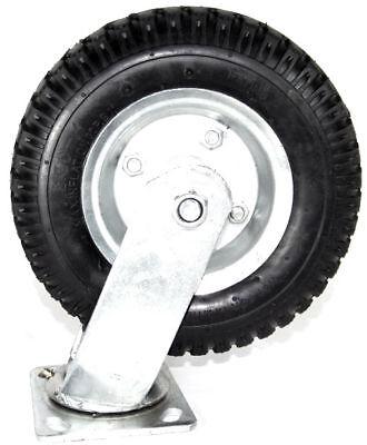 Heavy Duty 8 Air Tire Swivel Base Caster Wheels Bearings New