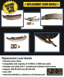 Replacement Lever Buckle- 20% off Spring Sale