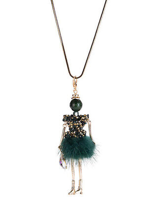MARNI H&M Green Ballerina Girl Necklace