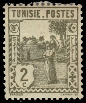 "TUNISIA 75 (Mi121) - Woman Carrying Water ""1926 Olive Green"" (pa38139)"