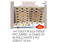 144 2ply toilet roll FREE DELIVERY