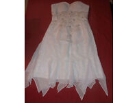 Size 34 white prom dress