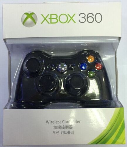 Microsoft Xbox 360 Wireless Controller Video Gamepad Black official US free ship