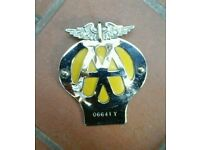 AA MOTORCYCLE BADGE