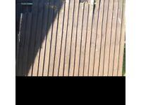 Three 6ft x 5ft fence panels