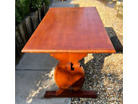 Pine table 127cm in good condition indoor or outdoor