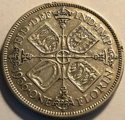 GREAT BRITAIN - Last George V Silver Two Shillings - 1936 - KM-834