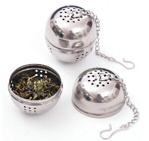 Stainless steel ball tea infuser strainer mesh filter loose tea leaf spice