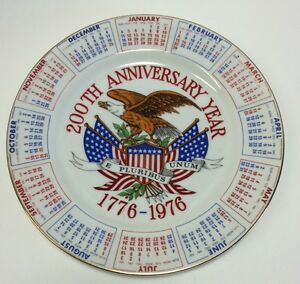 vintage '75 1776 1976 usa 200th anniversary year calendar