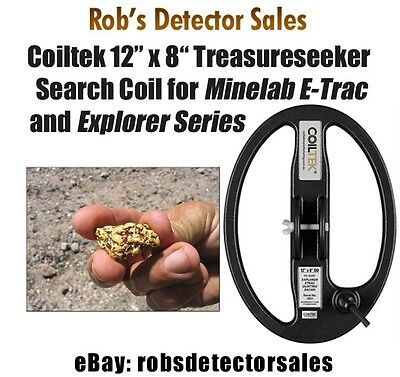 """Coiltek 12"""" x 8"""" Treasureseeker Search Coil for Minelab E-Trac and Explorer"""