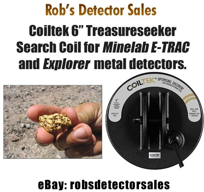 "Coiltek 6"" Treasureseeker Search Coil for Minelab E-TRAC and Explorer series"