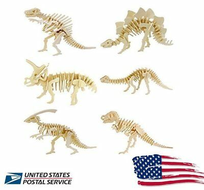 US Ship 3D Wooden Simulation Animal Dinosaur Assembly Puzzle Model Toy