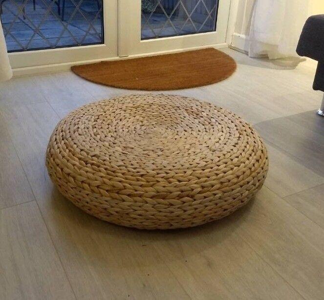 Ikea Alseda Stool Banana Fibre Footstool Pouffe