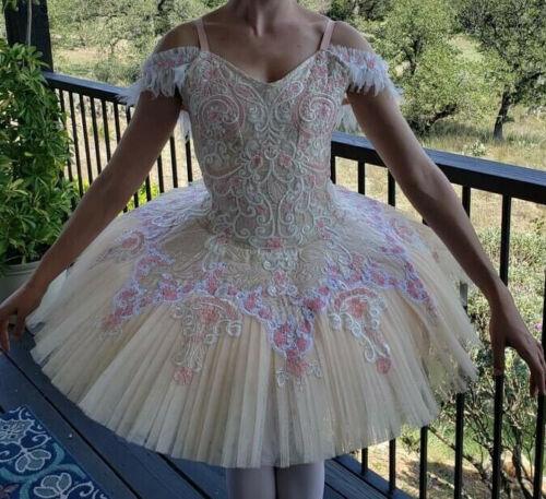 Professional Ballet Tutu Pink Ivory  Sugar Fairy Etude Paquita  Aurora Grand Pas