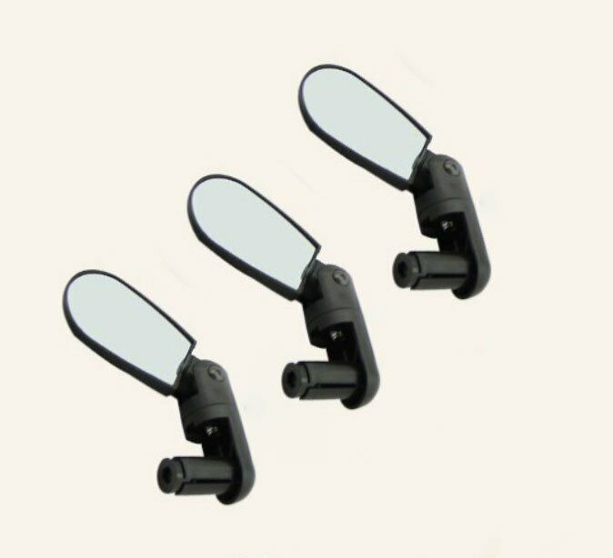 2PCS New Bicycle Bike Adjustable Wide Angle Rearview Handlebar End Mirrors Black