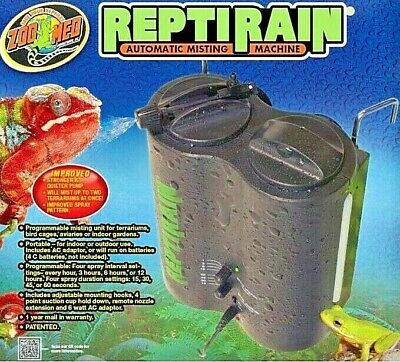 Zoo Med ReptiRain Automatic Misting Machine - Portable Terrarium Water Spray NEW