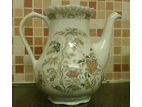 Antique Vintage (mid 1970's) Ironstone Adams Wedgwood Group Jeddo Tea Pot