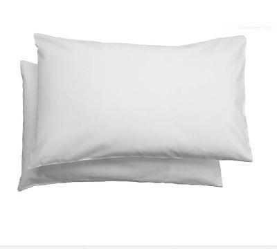 IKEA 2x LEN White 100% Cotton Pillow Cases For LEN Cot,Baby Kids Pillows- b787