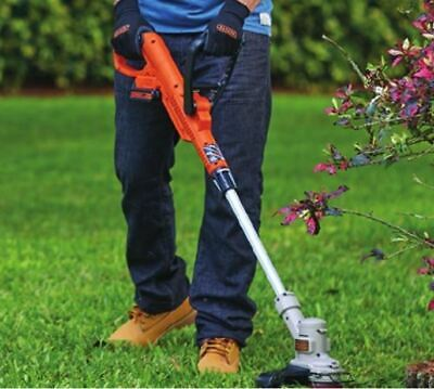 "Black and Decker Cordless Weed Eater Grass String Trimmer Edger 12"" Lawn New"