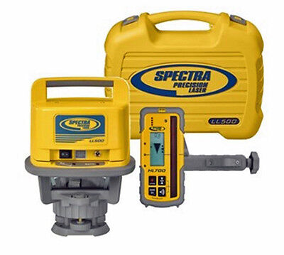 Spectra Precision Ll500 Rotary Laser Level Whl450 Receiver Hard Case