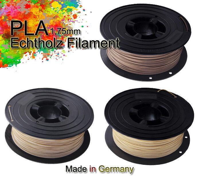 3D Filament 750g echt-HOLZ PLA Filament Rolle 1,75mm, Bambus , Kork, Holz 0,75kg