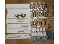 Kitchen cabinet hardware job lot. Hinges, soft closures, brackets, drawer runners, bolts, screws