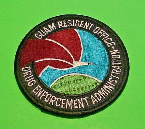 """GUAM  DEA RESIDENT OFFICE  ( TYPE #1 )   POLICE PATCH  3""""   FREE SHIPPING!!!"""