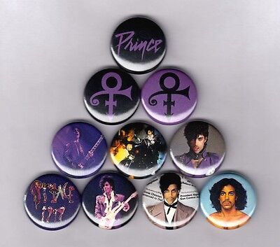 "PRINCE 1"" PINS BUTTONS (vintage shirt logo symbol sticker lp purple rain poster)"