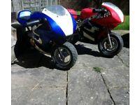 Two mini motos