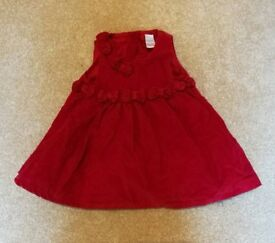 Red baby dress Age 3 to 6 months