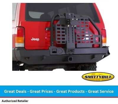 Smittybilt XRC Rear Bumper with Hitch & Tire Carrier for Jeep Cherokee