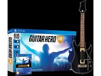 Guitar Hero Live on PS4. Never Used but Opened.
