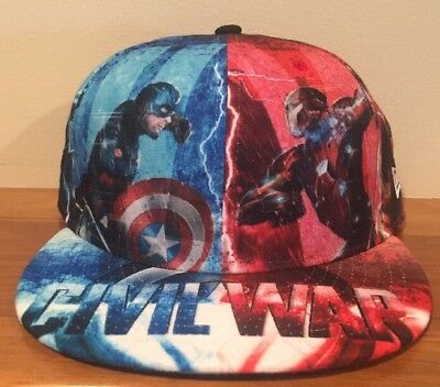 New Era Captain America Civil War Marvel Prototype Sample Fitted 59 Fifty Sz 8