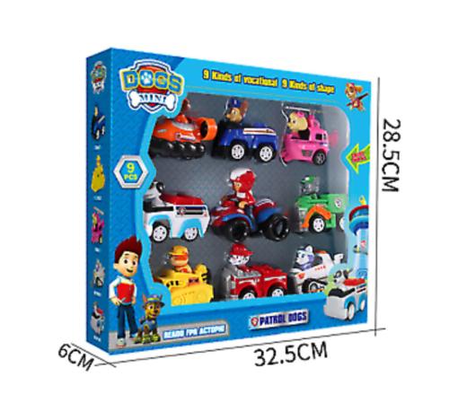 Paw Patrol Figuren 9 Stück Zurückziehen Autos Kinder Geschenk Xmas Spielzeug