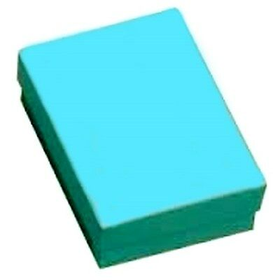 100 Teal Cotton Filled Jewelry Gift Boxes 3 14 X 2 14 X 1