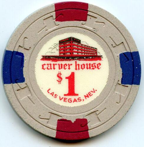 Carver House Casino, Las Vegas -  $1 Chip -1961