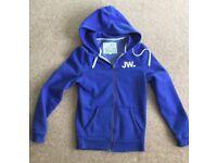 Jack Wills Blue Zip Hoodie size XS