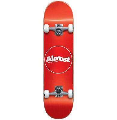 """Almost Thin Line 7.0"""" Red  Youth First Push Skateboard Complete Brand New!"""